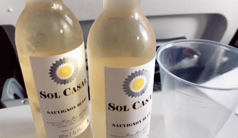 ブリティッシュエアウェイズ機内食ワイン