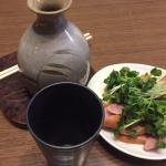 熱燗で夕飯